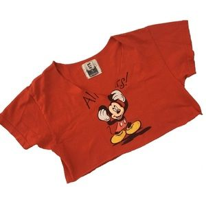 new LF Furst of a Kind ◈ Mickey Mouse Crop Tee ◈